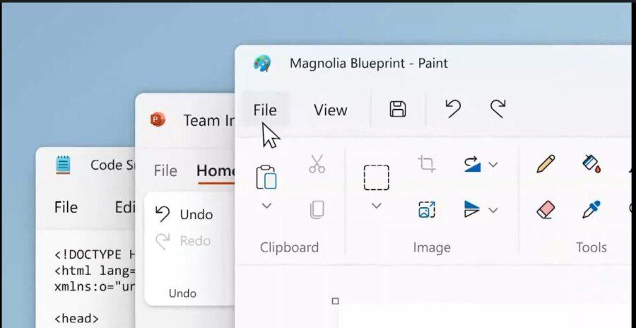 لقطة شاشة من نظام تشغيل ويندوز 11 الجديد