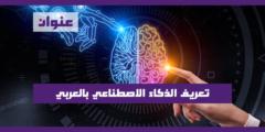 تعريف الذكاء الاصطناعي بالعربي (AI) Artificial Intelligence