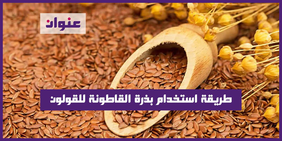 طريقة استخدام بذرة القاطونة للقولون