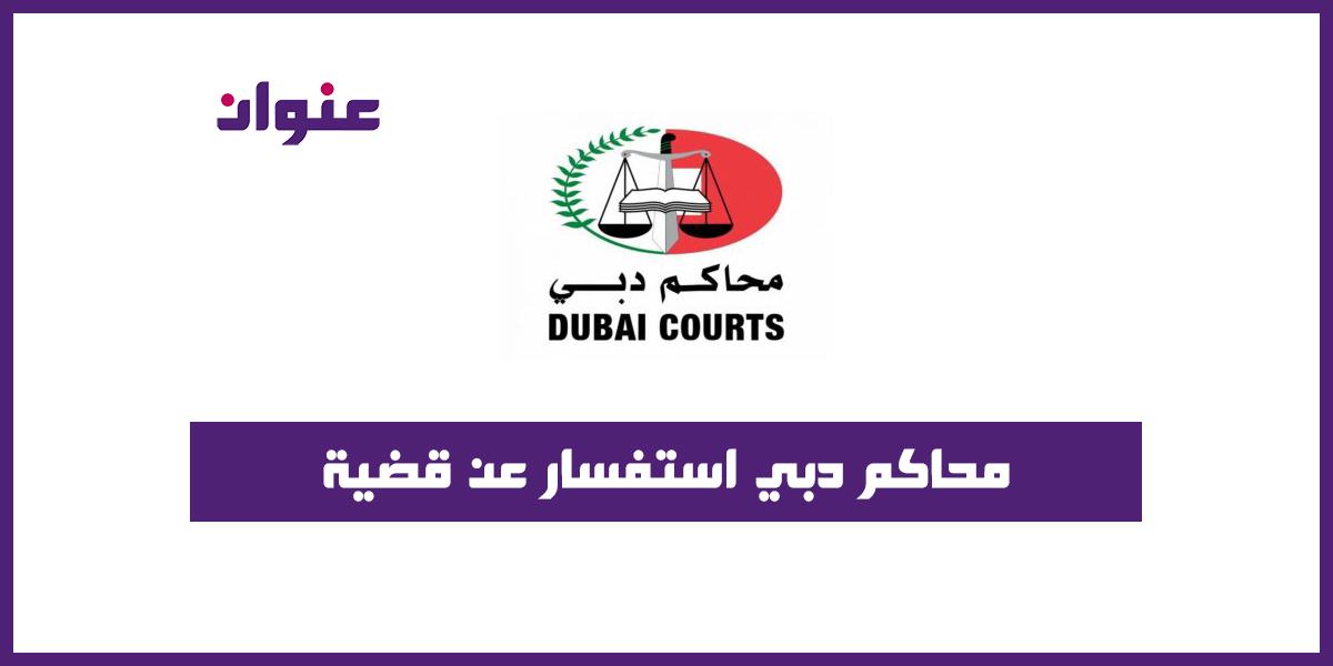 محاكم دبي استفسار عن قضية
